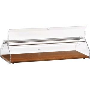 VETRINA NEUTRA PORTA BRIOCHES - MOD. VL - Piano in legno - Cupola in plexiglass trasparente - Ante con apertura sui due lati