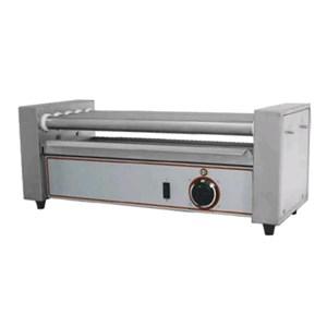 CUOCI WURSTEL - Mod. R 5 - 5 rulli in acciaio inox - Temperatura +50/+250 °C - Potenza W 600 - Alimentazione monofase - Dimensioni cm L 58 x P 22,5 x 23h - Norma CE