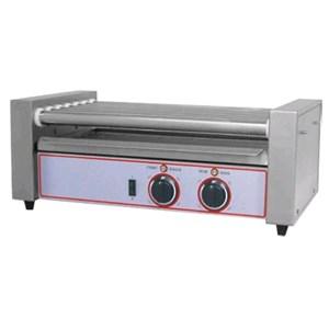 CUOCI WURSTEL - Mod. R 7 - 7 rulli in acciaio inox - Capacità circa 12 pz - Temperatura +50/+250 °C - Potenza W 650 - Alimentazione monofase - Dimensioni cm L 58 x P 30,5 x 23h - Norma CE