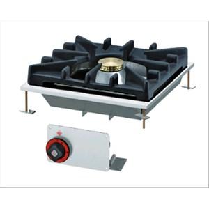 PIANO DI COTTURA A GAS DA INCASSO - MOD. PCD-44G - N. 1 fuoco - Con fiamma pilota - Potenza 10 Kw / 8600 kcal/h - Dimensioni: cm. L 40 x P 40 x H 14 - Norma CE