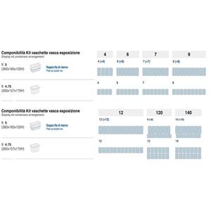 VETRINA GELATERIA - MOD. IDEA - VENTILATA - VETRI CURVI - UNITA' CONDENSATRICE A BORDO - SBRINAMENTO A GAS CALDO - TEMPERATURA -16/-14°C - Norma CE