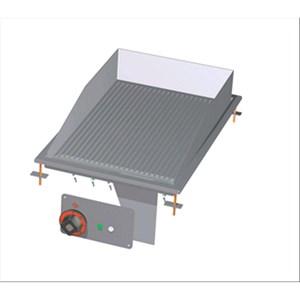 FRY TOP ELETTRICO PIASTRA RIGATA DA INCASSO - MOD. FTRD-64ET - Alimentazione trifase 400V/3N 230V/3 - Potenza kW 4,5 - Dimensioni: cm. L 40 x P 60 x H 22 - Norma CE