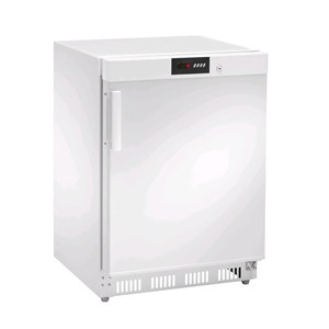 Armadio frigorifero in acciaio verniciato bianco - Mod. AKD200R - Statico - Display DIGITALE - Capacità lt 140 - N.1 porta - TEMPERATURA  0º/+8ºC - Dimensioni cm L 60 x P 60 x 85,5 H - Peso Kg 44