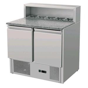 Saladette e banco pizza refrigerato in acciaio inox Amitek AK900P