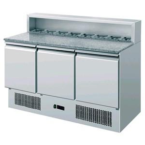 Saladette e banco pizza refrigerato in acciaio inox Amitek AK903P