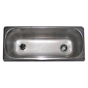 """Vaschetta lavaporzionatore - 2 fori - Due fori per carico (3/8"""") e scarico acqua (1/2"""") - Dimensioni cm 27x11 - Altezza cm 12"""