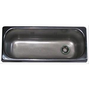 """Vaschetta lavaporzionatore - 1 foro per scarico acqua (1/2"""") - Dimensioni cm 27x11 - Altezza cm 12"""