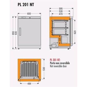 Armadio frigo congelatore Tecfrigo modello PL201NT