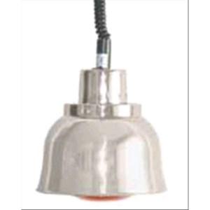 LAMPADA RISCALDANTE A RAGGI INFRAROSSI CON ALTEZZA REGOLABILE - MOD. BM225 - COLORE ALLUMINIO - Dim. cm ø 22,5 - Norma CE