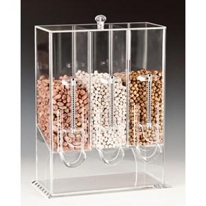 Dispenser cereali in policarbonato - MEDRI Linea - Codice zcp014-3 - Dimensioni cm 32x15 - Altezza cm 43 - Imballo confezione da n. 1 Unità
