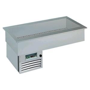 VASCA ESPOSITIVA DA INCASSO REFRIGERATA - MOD. ARMONIA - PER PASTICCERIA O PIATTI PRONTI - Temp. °C +4/+10 - ALIMENTAZIONE MONOFASE V 230/1/50 Hz - REFRIGERAZIONE STATICA - Gas refrigerante R290 - SBRINAMENTO AUTOMATICO A PAUSA