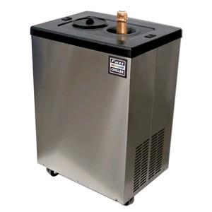 Refrigeratore di bottiglie su mobiletto con ruote FAST CHILLER mod. FS2X - Capacità 2 bottiglie - Ideale per raffredare vini e altre bevande in pochi minuti - Raffreddato a gas - Consumo W 200 - Alimentazione monofase - Dim. cm L 50 x P 37 x 72 h - 45 Kg