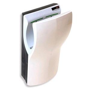 ASCIUGAMANI ELETTRICO DI ULTIMA GENERAZIONE - Mod. DUALFLOW - In ABS bianco - A inserimento verticale - Superveloce e superpotente - A risparmio energetico