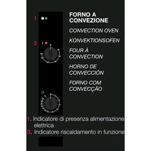 FORNO ELETTRICO A CONVEZIONE PER GASTRONOMIA E PASTICCERIA - MOD. EME523 - CONTROLLO ELETTROMECCANICO - SENZA UMIDIFICATORE E A UNA VELOCITA' - ALIMENTAZIONE MONOFASE 230/1/50 - POTENZA KW 3,3 - CAPACITA': 5 X (GN 2/3) - DISTANZA INTERASSE TEGLIE Cm 7,4 - DIMENSIONE Cm L 60 X P 70 X h 66 - Peso Kg 53