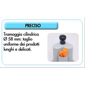 ABBINATO CUTTER E TAGLIAVERDURE PROFESSIONALE - Mod. R 101 XL - Capacità vasca in ABS lt 1,9 - Capacità coperti 20 - Potenza W 450 - Dimensioni cm L 22 x P 28 x 49,5h