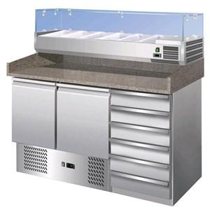 Banco pizza refrigerato in acciaio inox Forcold G-S903PZCAS/14033V FC