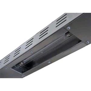 Resistenze a infrarossi per ripiani d'appoggio - Realizzate in acciaio inox AISI 304 - Applicabile su entrambe i piani - Ogni resistenza potenza W 400 - Alimentazione monofase 230V