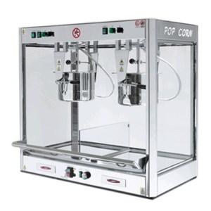 MACCHINA PER POPCORN - MOD. DOPPIO - N. 2 PENTOLE utilizzabili anche singolarmente - Cottura tradizionale con olio - Modalità di cottura standard o rapida - Mescolatore automatico - Termostato - Capacità gr. 600 + 600/3 minuti - Potenza 3400 W - Alimentazione 230 V monofase - Dimensione cm L 105 X P 57 X H 103 - Norma CE