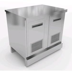 BANCO BIRRA - SEMILAVORATO DA PANNELLARE - MOD. CX88/10P - Con piano inox o con predisposizione per piano in marmo/granito/agglomerato - L. 100cm - N. 2 sportelli inox ventilati - fondo rinforzato - DIM. Cm L 100 x P 70 x h 93,1 o 95,1