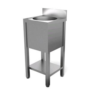 Lavamani - basamento a giorno - Vasca ovale - Lunghezza cm 40 - Profondità cm 40 - Altezza cm 85/90 - Dimensioni vasca cm Ø 26 x 12,5 h