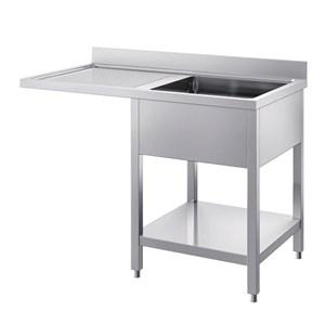 Lavatoio n.1 vasca - con n.1 gocciolatoio per inserimento lavastoviglie - gambe quadre - con ripiano inferiore