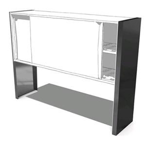 Coppia di fianchi per appoggio pensile su tavolo (sconsigliato per appoggio su lavatoi) - In acciaio AISI 304 - Dimensioni cm P 40 x 120 H