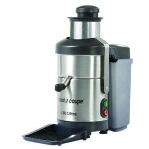 CENTRIFUGA - Mod. J 80 ULTRA - Conserva le vitamine e non riscalda gli alimenti - Velocità costante 3000 giri/min - Produzione fino a 120 litri/h - Potenza W 700 - Alimentazione monofase 230V - Dimensioni cm L 23,5 x P 42 x 50,5h