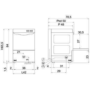 Lavabicchieri meccanica Compack G3527R