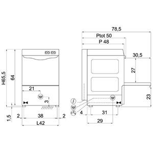 Lavabicchieri meccanica Compack 35L27