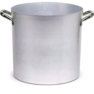 Pentola in alluminio - AGNELLI Linea - Codice 03 - Spessore mm 2 - Capacità 12,5 lt  - Diametro cm 26 - Altezza cm 24 - Imballo confezione da n. 1 Unità