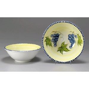 Insalatiera in ceramica - MONTE SORATTE Linea UVA - Diametro cm 21 - Imballo confezione da n. 12 Unità