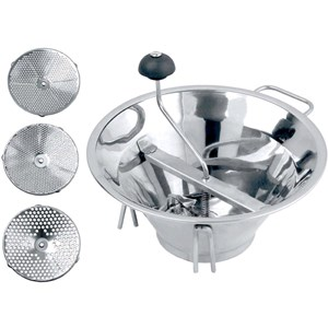 Set 3 filtri passaverdura in inox - OMAC Linea CHEF - Imballo confezione da n. 1 Unità