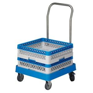 Carrello per cestelli con manico in plastica - INOXMACEL Linea - Codice rcarrm - Imballo confezione da n. 1 Unità