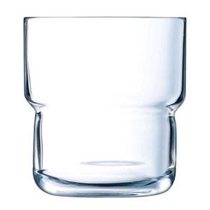 Bicchiere - ARCOROC Linea LOG- Codice l8690 - Capacità 22 cl  - 7  1/4 oz - Diametro mm 73 - Altezza mm 79 - Imballo confezione da n. 6 Unità