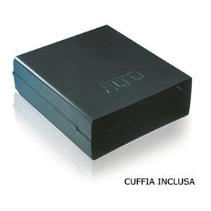 CASSETTO CAFFE' IN INOX - Linea 3000 - Mod. 3074 + 1074/C - Vasca per eliminare i residui liquidi - Foro banco cm L 34,7 x 13 H - Profondità cassetto cm 40,5
