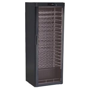 ESPOSITORE REFRIGERATO PER VINO - Mod. G-BJ408 - Capacità bottiglie N. 116 da lt 0,75 - Temperatura differenziata a seconda dei ripiani - Temperatura +5/+18 °C - Potenza W 112 - Alimentazione monofase 230V/1/50Hz - Dimensioni cm L 60 x P 60,3 x 186 h - Norma CE