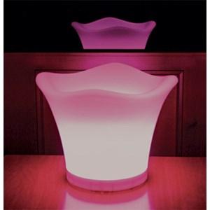 PORTA BEVANDE CON ILLUMINAZIONE LED RGB - MOD. BZBE302 - PER USO INTERNO/ESTERNO - DIM. cm Ø 34 x 27 h - NORMA CE