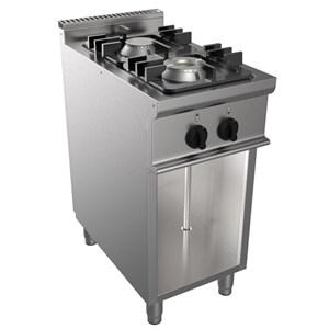 Cucina a gas 2 fuochi Casta MOD. E7/CUPG2BA.1M1G linea EASY