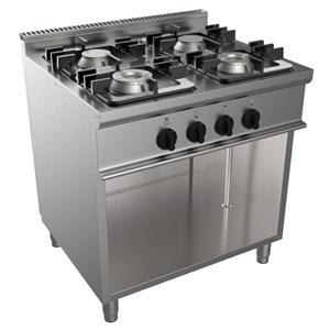 Cucina a gas 4 fuochi Casta E7/KUPG4BA.2M2G linea EASY