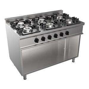 Cucina a gas 6 fuochi Casta E7/KUPG6BA.3M3G linea EASY