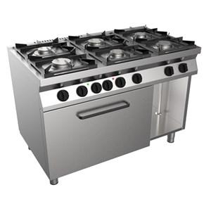 Cucina a gas 6 fuochi con forno elettrico Casta F7/KUG6LE linea FAST