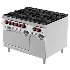 Cucina a gas 6 fuochi con forno elettrico Desco FAE93M0 linea BOHEME