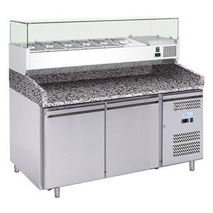 Banco pizza refrigerato in acciaio inox Forcold G-PZ2600TN33 FC