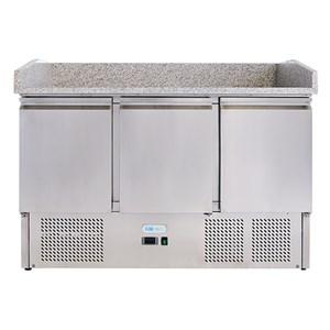 Banco pizza refrigerato in acciaio inox Forcold G-S903PZVRX FC