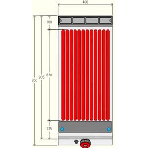 GRIGLIA A PIETRA LAVICA A GAS - MOD. GPG91M0 - Vano neutro con porta battente - Potenza kW 12 - Dimensioni: cm L 40 x P 90 x H 90 - Norma CE