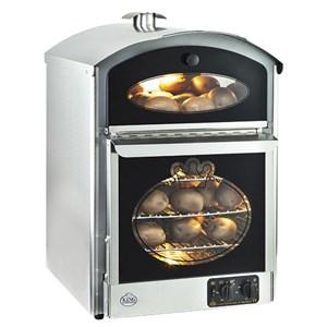FORNO VENTILATO PER PATATE - MOD. KEKING 50 - Con vano caldo espositivo - Capacità n. 60 patate - Alimentazione monofase 230V - Potenza Kw 3 - Dimensioni mm. L 500 x P 580 x h 750
