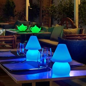 LAMPADA - MOD. MY LIGHT U00001 - CON KIT RGBW - STRUTTURA IN POLIETILENE - DIM. cm L Ø 14 x h 20 - NORMA CE