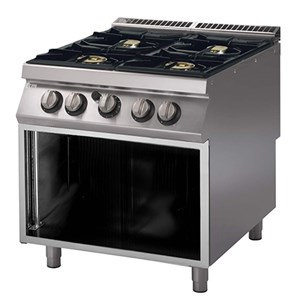 Cucina a gas 4 fuochi Allforfood PK 70/80 PCGB linea M