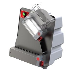 STENDIPIZZA - DILAMINATRICE - 2 COPPIE DI RULLI (rullo superiore inclinato) - Mod. TO 30 R - Lunghezza Rulli cm 31 - Potenza hp 0,50 - Alimentazione monofase 230 V - Norma CE