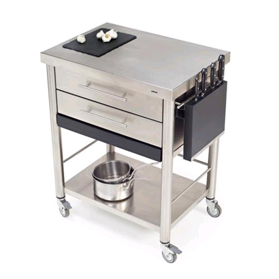Carrello da cucina mod 687702 auxilium in acciaio inox con n 2 ca - Carrelli x cucina ...
